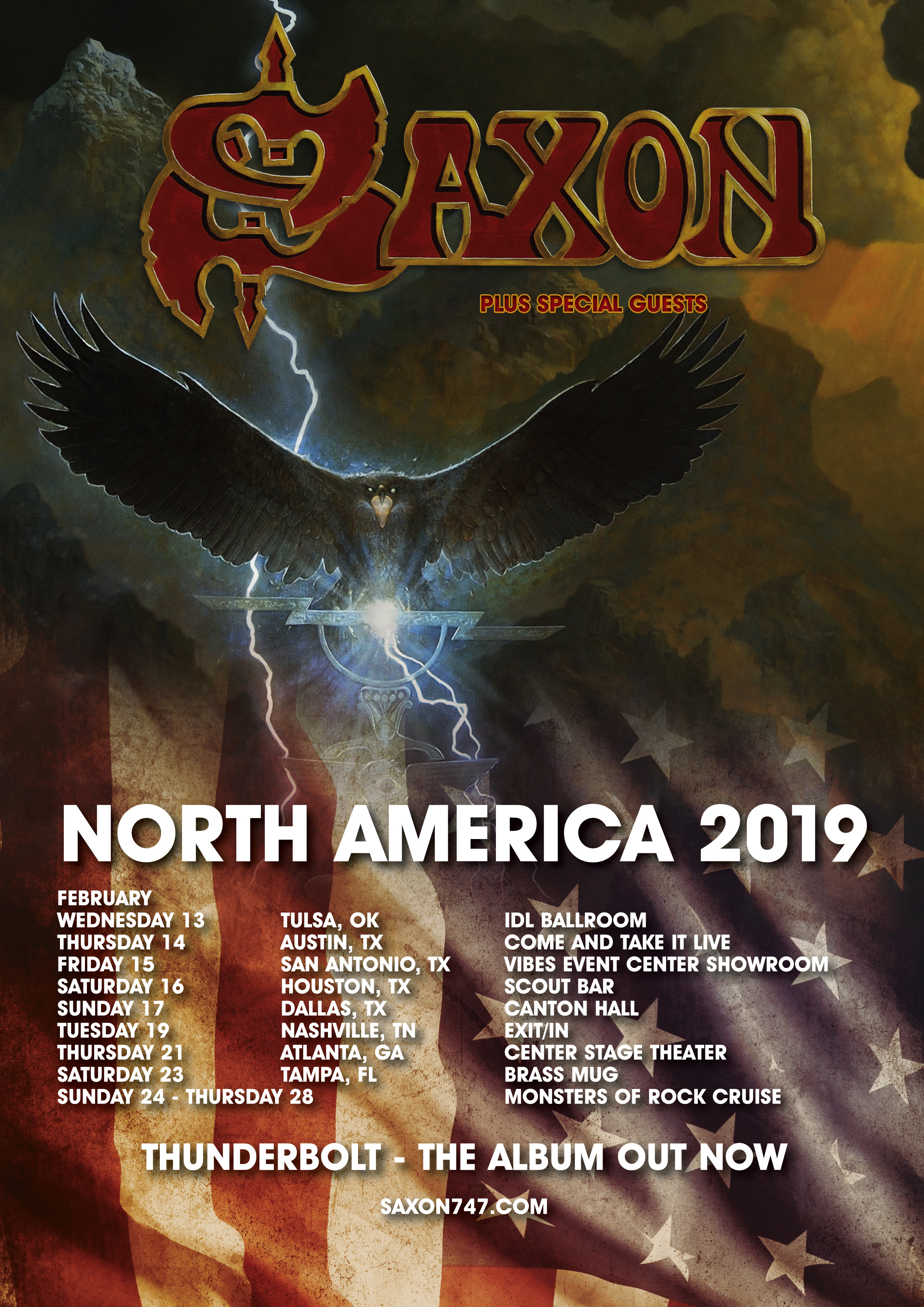 SAXON ANNOUNCE US TOUR DATES IN EARLY 2019! - Silver Lining Music
